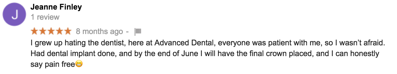 Patient Google Review #2